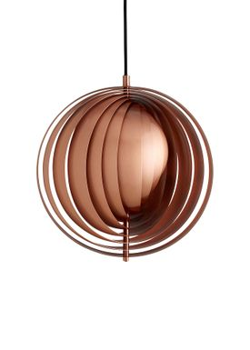 Verpan - Lampe - Moon Pendant by Verner Panton - Kobber - Small