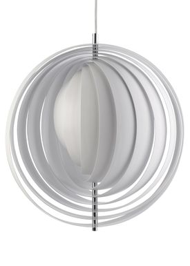 Verpan - Lampe - Moon Pendant by Verner Panton - White - XXXL