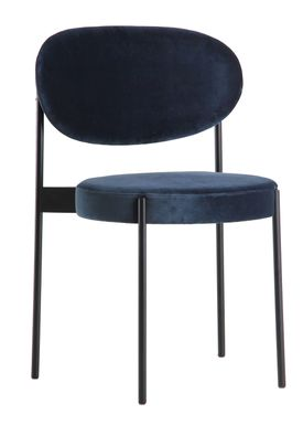 Verpan - Chair - 430 Stacking Chair by Verner Panton - Blue Velvet - Harald 2 / 182