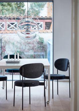 Verpan - Stol - 430 Stacking Chair by Verner Panton - Grey - Hallingdal 65 / 130