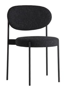Verpan - Chair - 430 Stacking Chair by Verner Panton - Dark Grey - Hallingdal 65 / 180