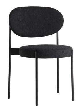 Verpan - Stol - 430 Stacking Chair by Verner Panton - Dark Grey - Hallingdal 65 / 180