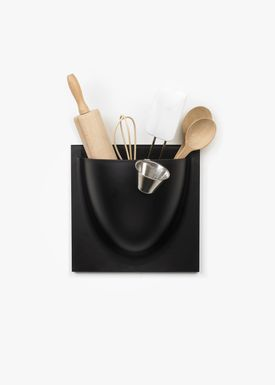 VertiPlants - Hanging Objects - Wallpot - Black / Large