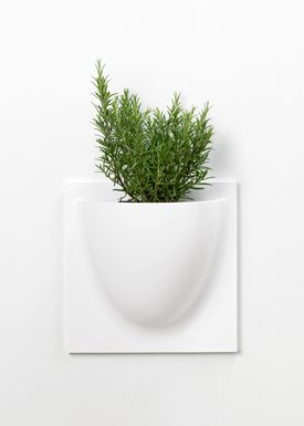 VertiPlants - Hanging Objects - Wallpot - White / Mini