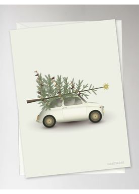 ViSSEVASSE - Cards - Christmas Tree & Little Car Christmas Card - Christmas
