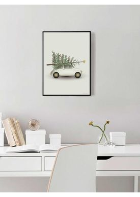 ViSSEVASSE - Poster - Christmas Tree & Little Car - Christmas