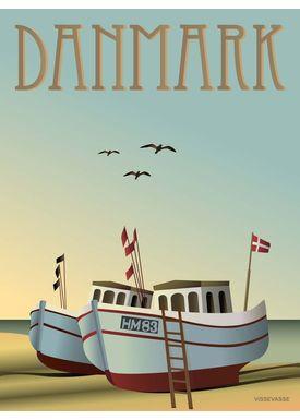 ViSSEVASSE - Poster - Danmark - Fishing boats - Fishingboats 30x40