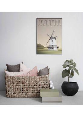 ViSSEVASSE - Poster - Danmark - Vindmølle - Danmark - vindmølle 50x70