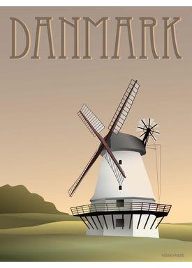 ViSSEVASSE - Poster - Danmark - Vindmølle - Danmark - vindmølle A5