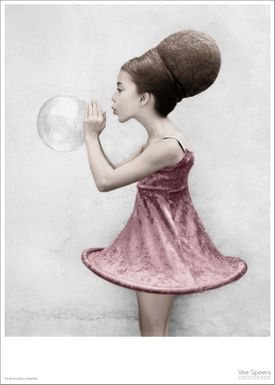 ViSSEVASSE - Poster - Vee Speers - The Birthday Party Series - The girl blowing the bubble / Untitled #16