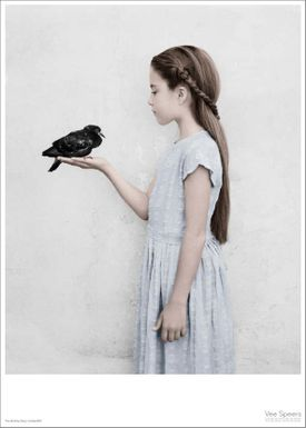 ViSSEVASSE - Poster - Vee Speers - The Birthday Party Series - The girl with the bird perched on her hand / Untitled #22