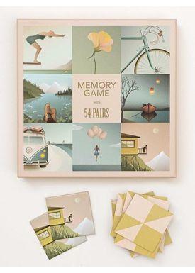 ViSSEVASSE - Spil - Memory - 2 x 54 brikker
