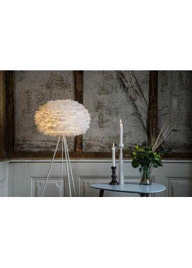 Vita Copenhagen - Lampeskærm - Eos Fjerlampe - Hvid Large