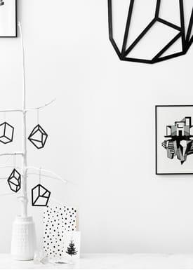 Kristina Dam - Poster - Wall Structure - Sort/Sort