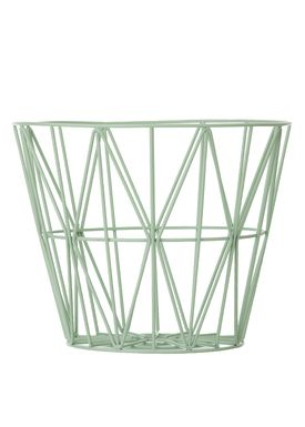 Ferm Living - Kurv - Wire Basket - Large - Mint