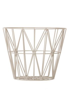 Ferm Living - Kurv - Wire Basket - Large - Grå