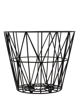 Ferm Living - Kurv - Wire Basket - Large - Sort