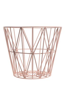 Ferm Living - Kurv - Wire Basket - Large - Rosa