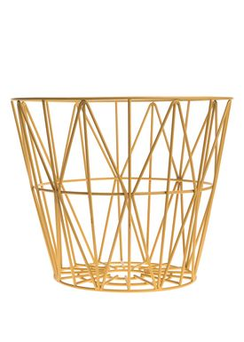 Ferm Living - Kurv - Wire Basket - Large - Gul