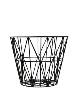 Ferm Living - Kurv - Wire Basket - Medium - Sort