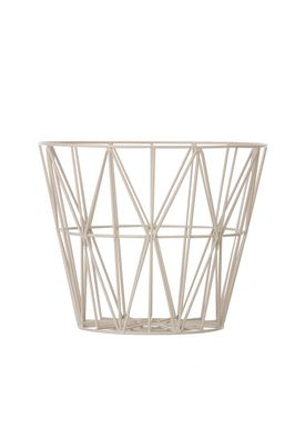Ferm Living - Kurv - Wire Basket - Medium - Grå