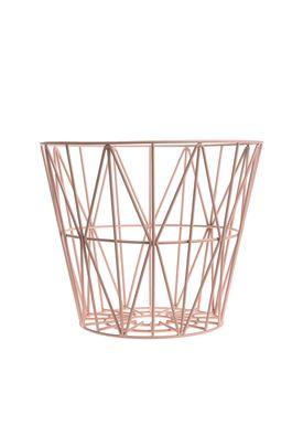Ferm Living - Kurv - Wire Basket - Medium - Rosa