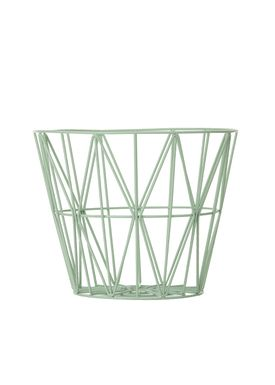 Ferm Living - Kurv - Wire Basket - Medium - Mint