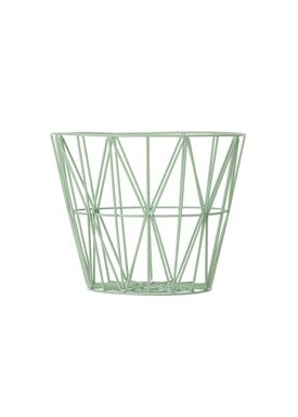 Ferm Living - Kurv - Wire Basket - Small - Mint