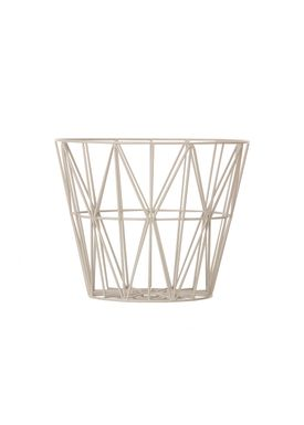 Ferm Living - Kurv - Wire Basket - Small - Grå