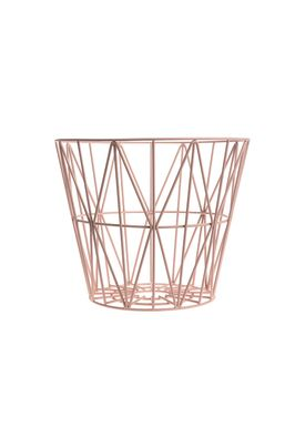 Ferm Living - Kurv - Wire Basket - Small - Rosa