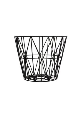 Ferm Living - Kurv - Wire Basket - Small - Sort