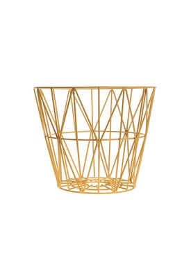 Ferm Living - Kurv - Wire Basket - Small - Gul