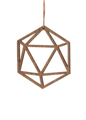Ferm Living - Julepynt - Wooden Diamond - Røget Eg - 1