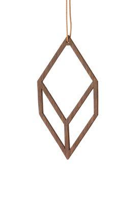 Ferm Living - Julepynt - Wooden Diamond - Røget Eg - 2