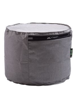 X-POUF - Puf - X Cylinder PU Coated - Light Grey