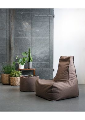X-POUF - Bean Bag - X-CHAIR Pu Coated - Brown