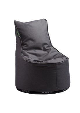 X-POUF - Bean Bag - X Kids Chair PU Coated - Dark Grey