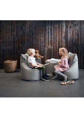 X-POUF - Sækkestol - X Kids Chair PU Coated - Lysegrå