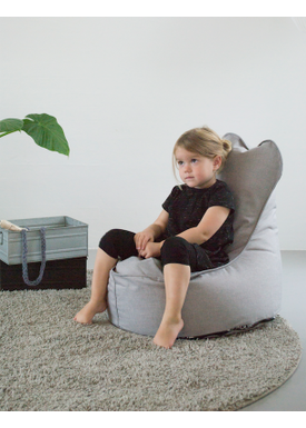X-POUF - Bean Bag - X Kids Chair PU Coated - LoungeChair Light Grey