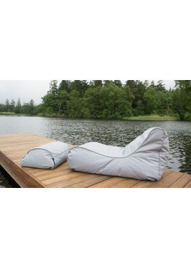 X-POUF - Bean Bag - X Long PVB - Light Grey