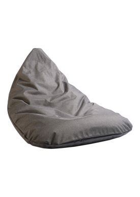 X-POUF - Bean Bag - X-TRIANGLE Pu Coated - Dark Grey