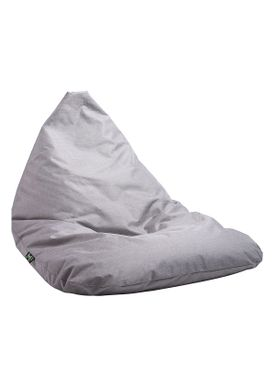 X-POUF - Bean Bag - X-TRIANGLE Pu Coated - Light Grey