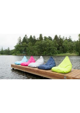X-POUF - Bean Bag - X Triangle PVB - Dark Blue