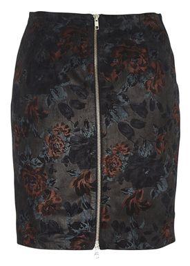 Muubaa - Nederdel - Yoki Floral Skirt - Sort m. Print