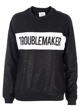 Zoe Karssen - Bluse - Loose Fit Raglan Troublemaker - Pirate Black w. Coating