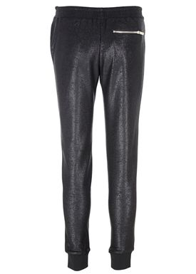 Zoe Karssen - Pants - Slim Fit Lurex Leggings - Pirate Black w. Coating