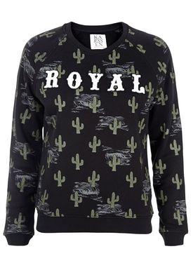 Zoe Karssen - Sweatshirt - Cactus Royal Loose Sweatshirt - Pirate Black/Print