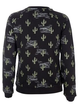 Zoe Karssen - Sweatshirt - Cactus Royal Loose Sweatshirt - Pirate Black/Print