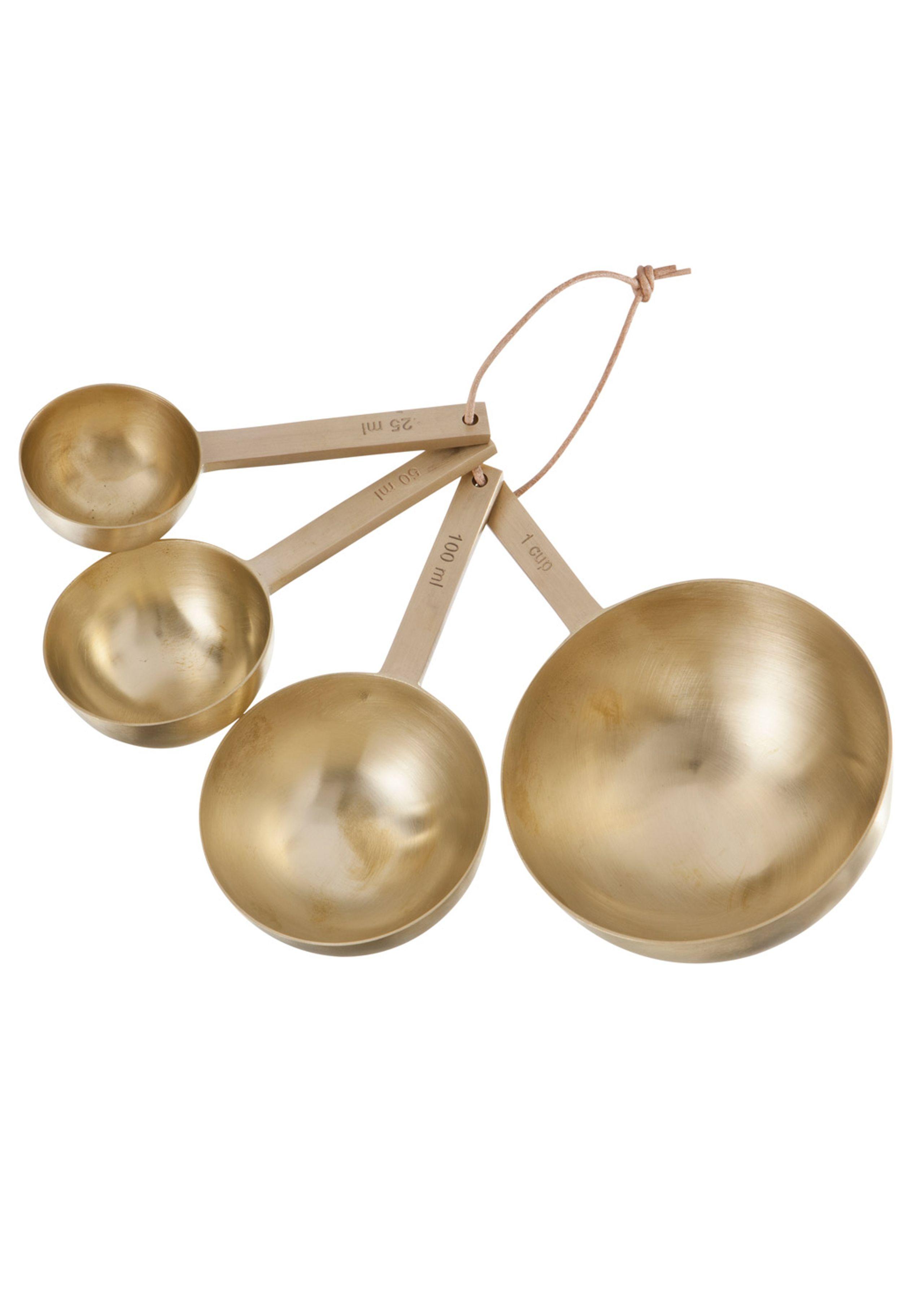 Brass measurement spoons