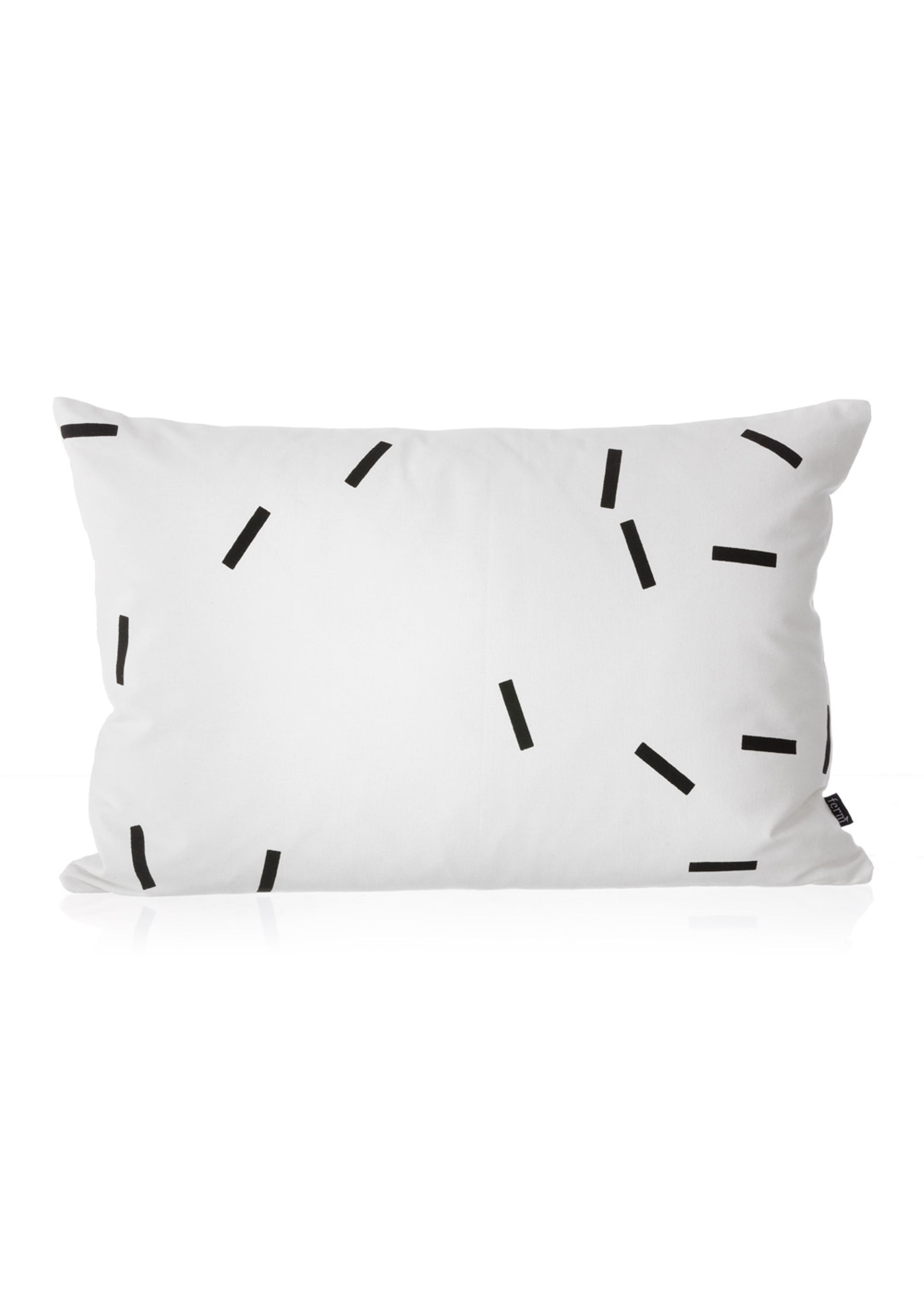 Black mini sticks cushion